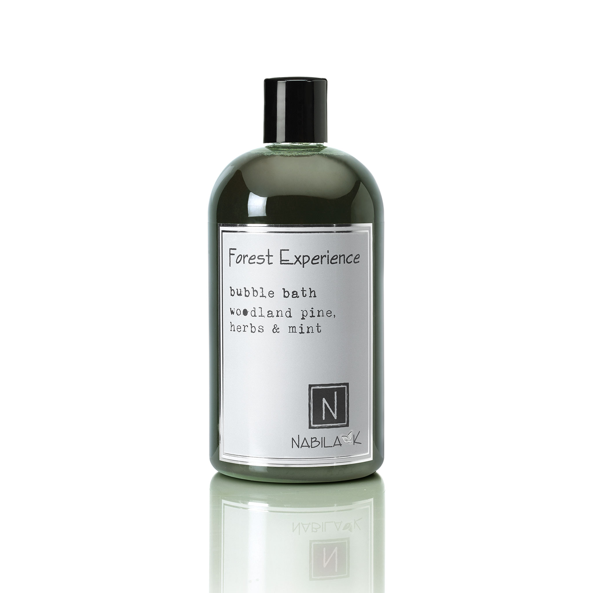 1 16oz bottle of forest experience bubble bath woodland pine, herbs and mint