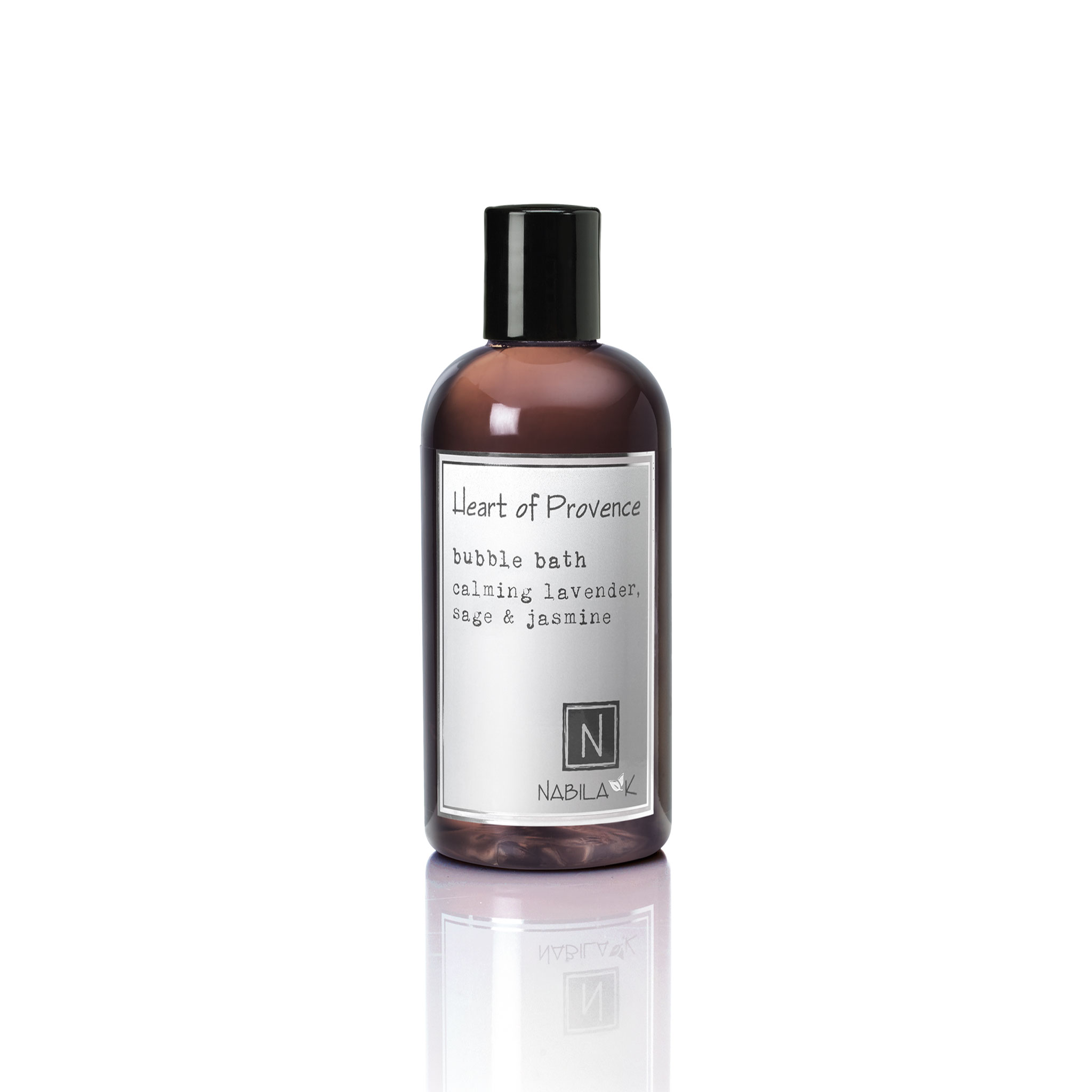 1 8oz bottle of heart of provence bubble bath calming lavender sage and jasmine