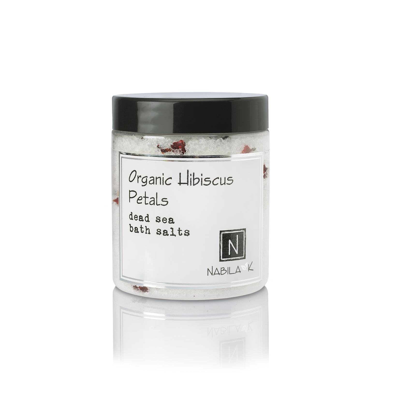 Large Sized Version of Nabila K's Organic Hibiscus Petals Dead Sea Bath Salts