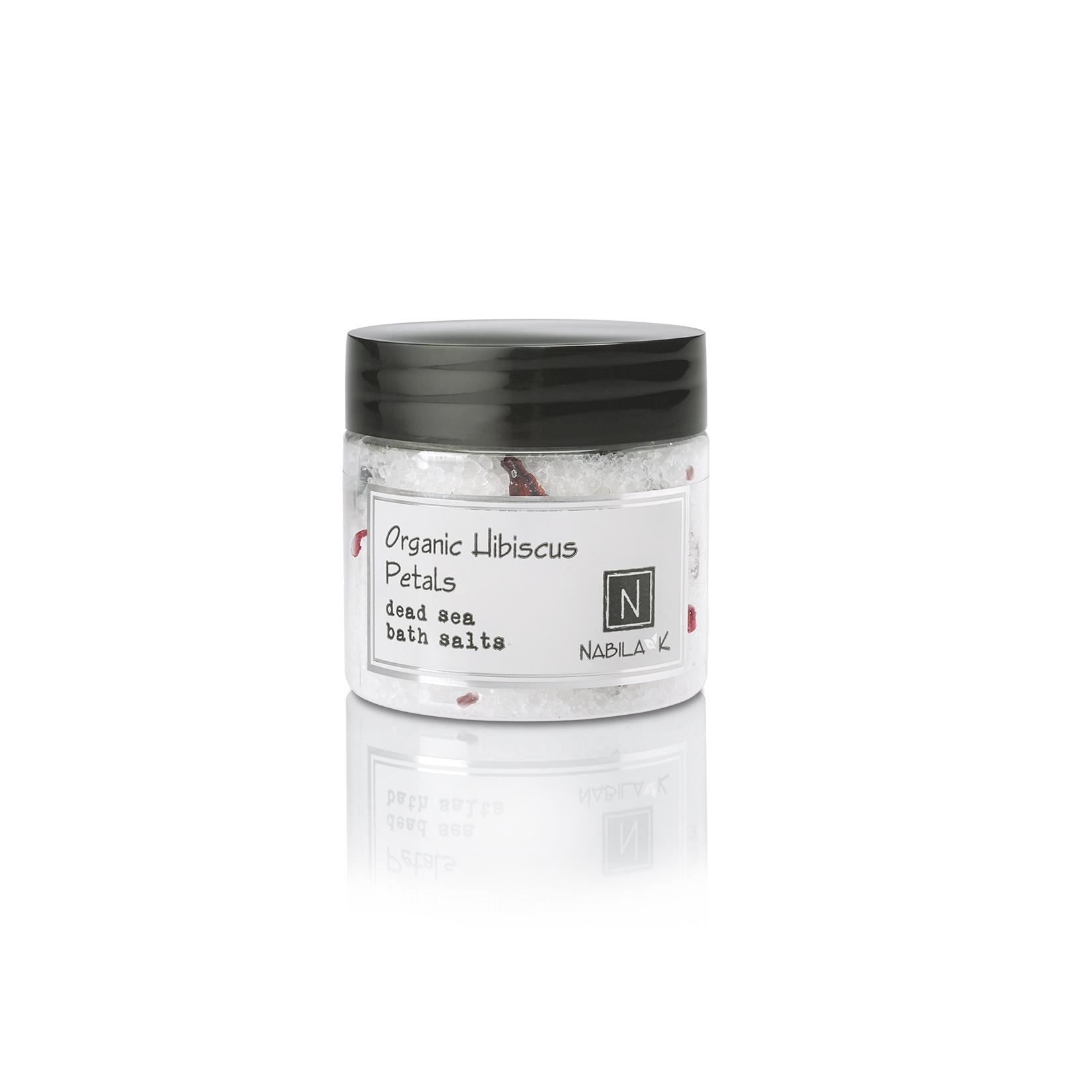 Travel Sized Version of Nabila K's Organic Hibiscus Petals Dead Sea Bath Salts