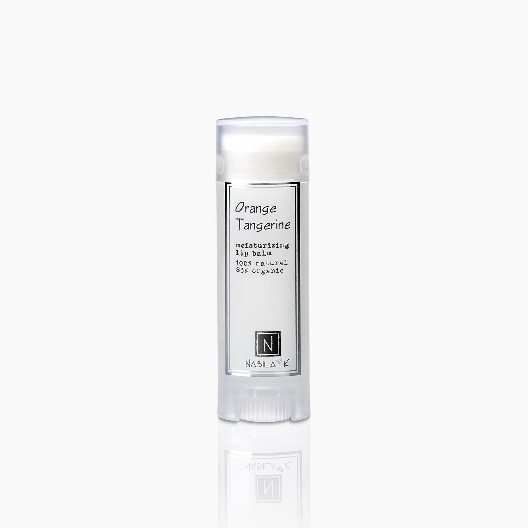 orange tangerine moisturizing lip balm 100% natural 85% organic