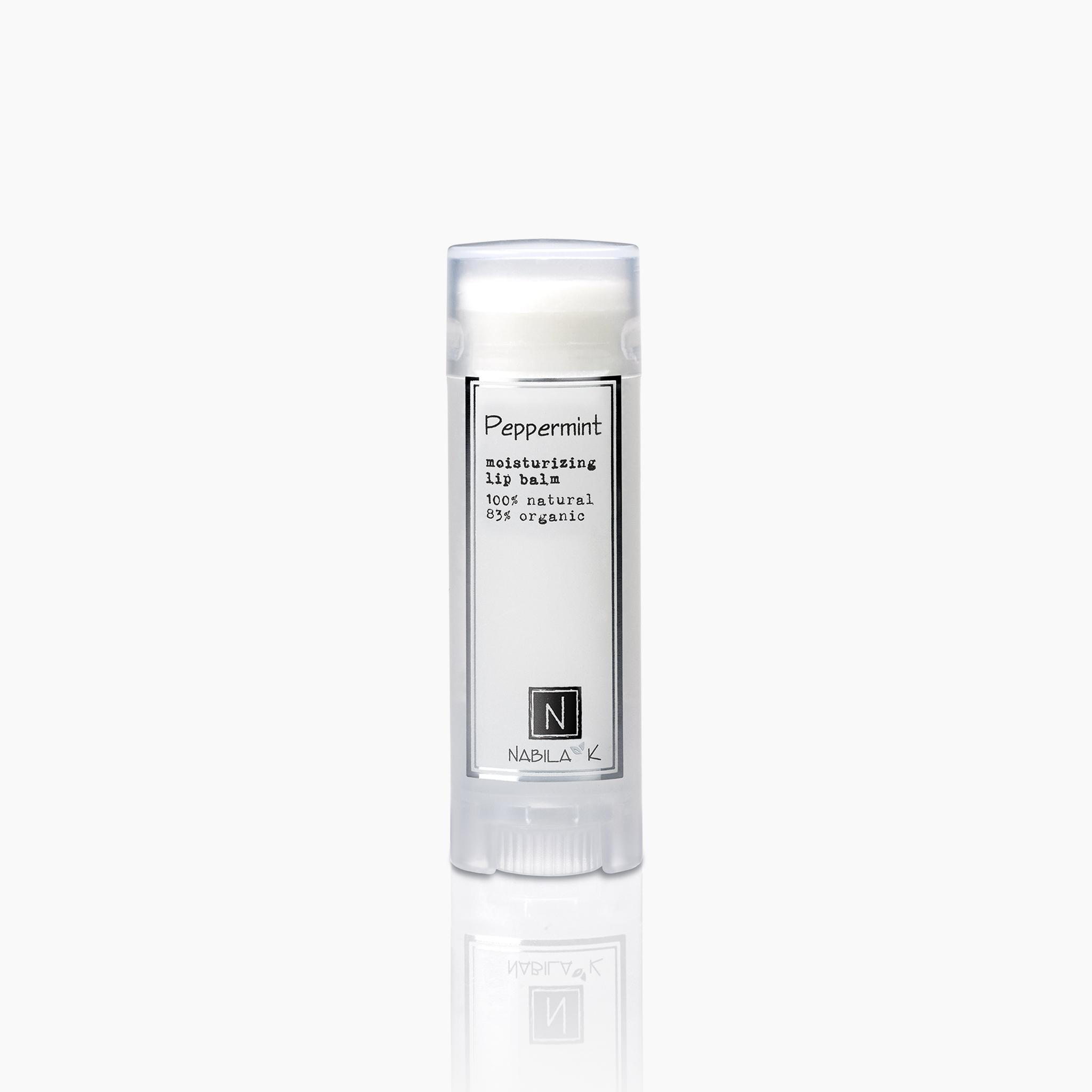 peppermint moisturizing lip balm 100% natural 85% organic