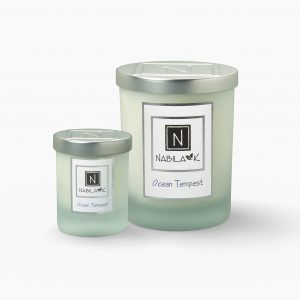 1 Large and 1 Small Version of Nabila K's Ocean Tempest Candle