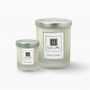 1 Large and 1 Small Version of Nabila K's Rose Garden Candle