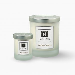 1 Large and 1 Small Version of Nabila K's Smokey Vanilla Candle