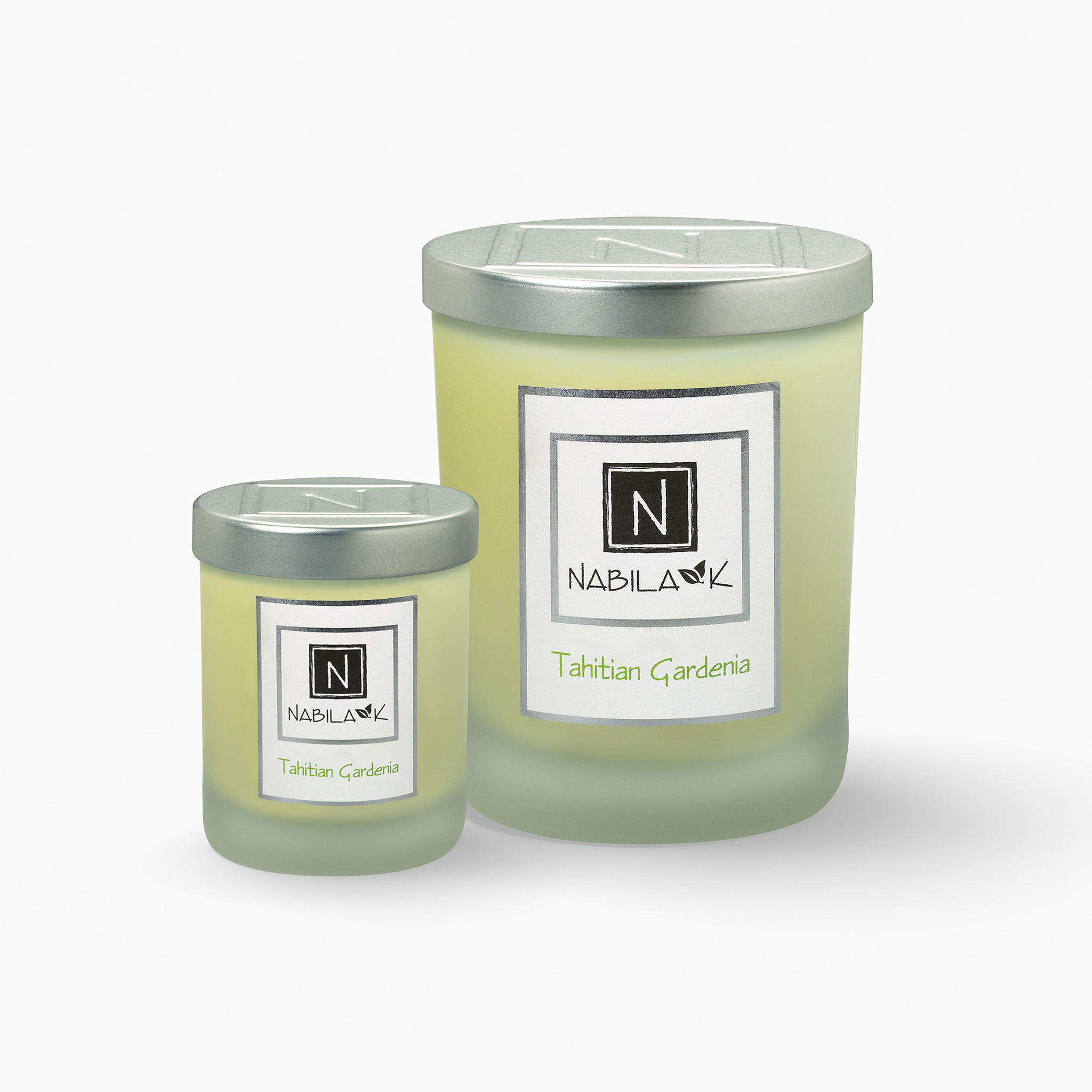 1 Large and 1 Small Version of Nabila K's Tahitian Gardenia Candle