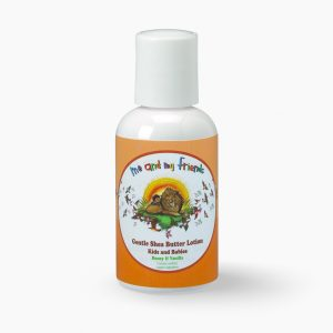 1 2 oz bottle of Nabila K's Me and My Friends Gentle Shea Butter Lotion Kids and Babies Honey and Vanilla Contains certified Organic Ingredients