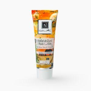 1 oz of Nabila K's Safari at Dusk Body Lotion with Aloe Vera and Vitamin C Moisturizing and Healing