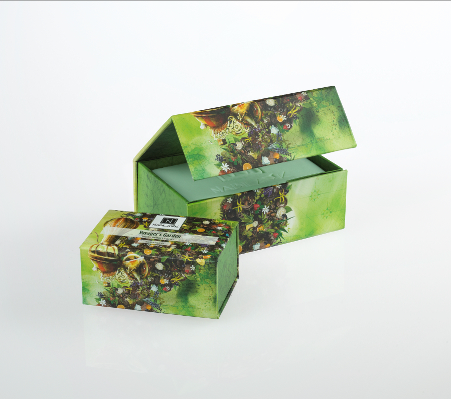 1 Large and 1 Small Bar of Nabila K's Voyager's Garden Soap Triple Milled Soap