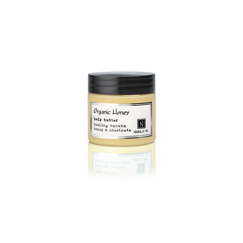 1 2oz jar of Nabila K's Organic Honey Body Butter with healing manuka honey and chestnuts