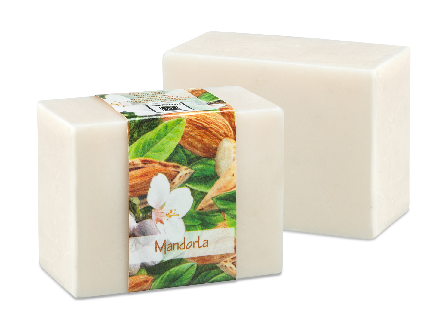 Mondorla is a soothing glycerine soap infused with almonds to help calm dry irritated skin.