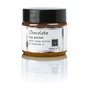 1 oz of Nabila K's Chocolate Lip Polish with Shea Butter and Vitamin E