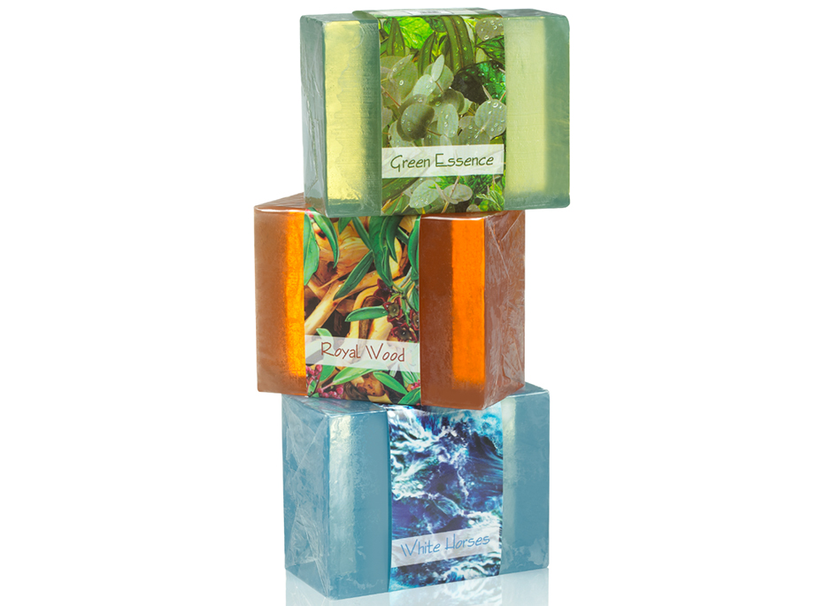 Green Essence, Royal Wood, and White Horses combine to create an amazing Elemental soap collection. Use all together for an amazing combination.