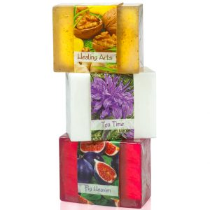 Pamper yourself mind, body and soul with 3 soap collection that includes oat scented Hathor, bergamot tea time soap and lucious fig heaven.