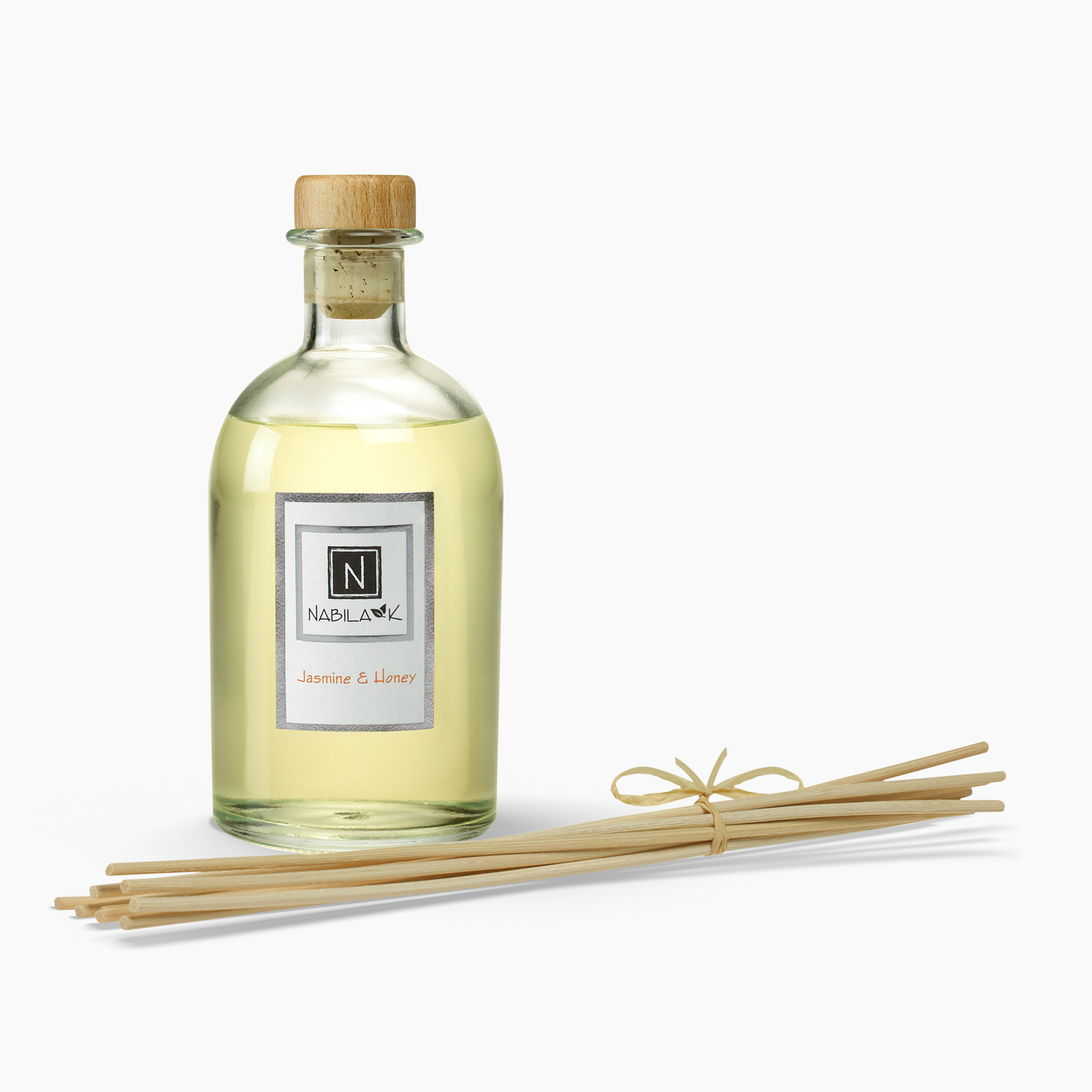 1 Bottle of Nabila K's Jasmine and Honey Diffuser with Reeds