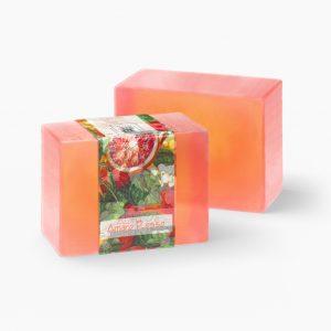2 Bars of Nabila K's Amaro Rosso Full Bloom Glycerin Soap
