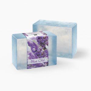 2 Bars of Nabila K's Blue Gold Full Bloom Glycerin Soap