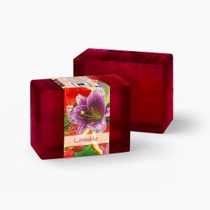 Destress with caramel,vanilla,and bergamot in the wonderfully sensuous fragrance combination of NabilaK Loveable glycerin soap.