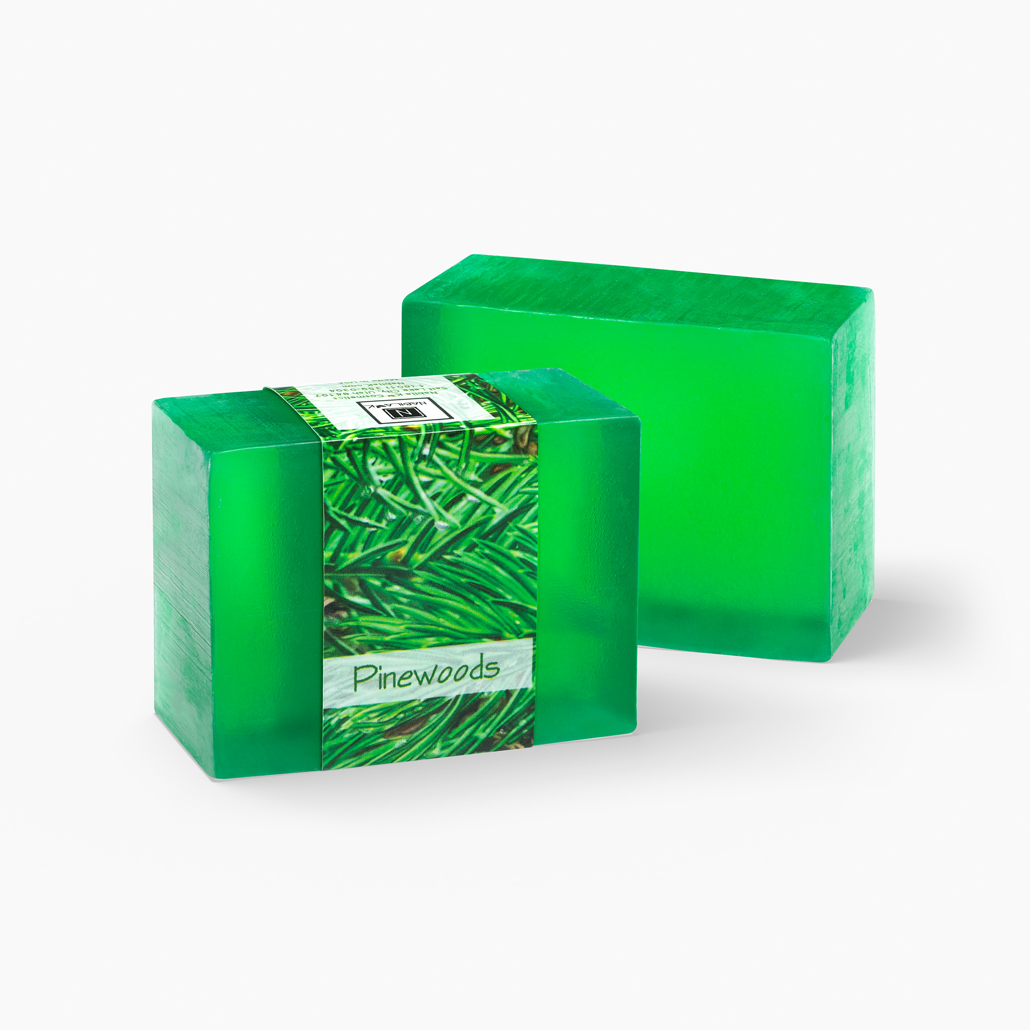 Take a hike through the pines with this pine infused Pinewoods glycerin soap. A great scent for the holiday season.