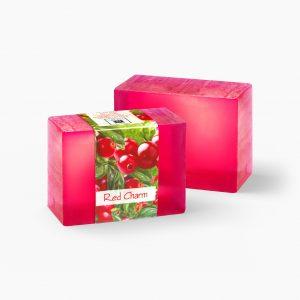 2 Bars of Nabila K's Red Charm Full Bloom Glycerin Soap
