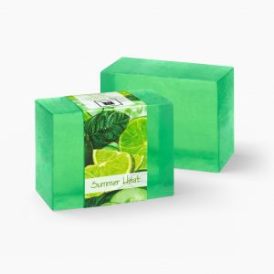 Revitalize your senses with the pairing of lime and cucumbers with this Summer Heat glycerin soap. Most excellent after a day at the beach!