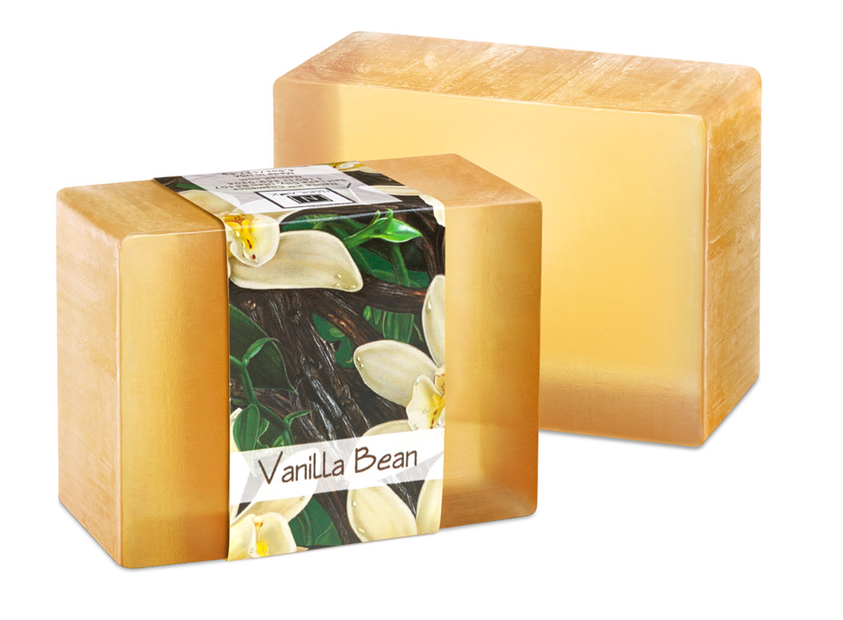 The amazing scent of vanilla is long lasting in this NabilaK glycerin soap.