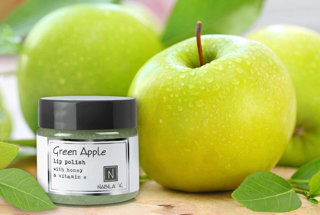 1 Jar of Nabila K's Green Apple Lip with Honey and Vitamin E