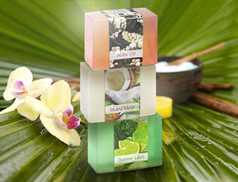 3 of Nabila K's Full Bloom Glycerin Bar Soap Stacked