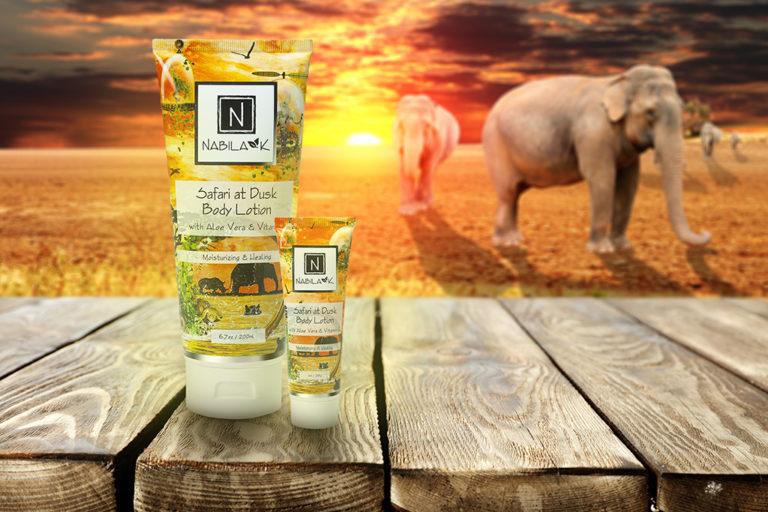 Nabila K's Safari at Dusk Body Lotion with Aloe Vera and Vitamin Moisturizing and Healing