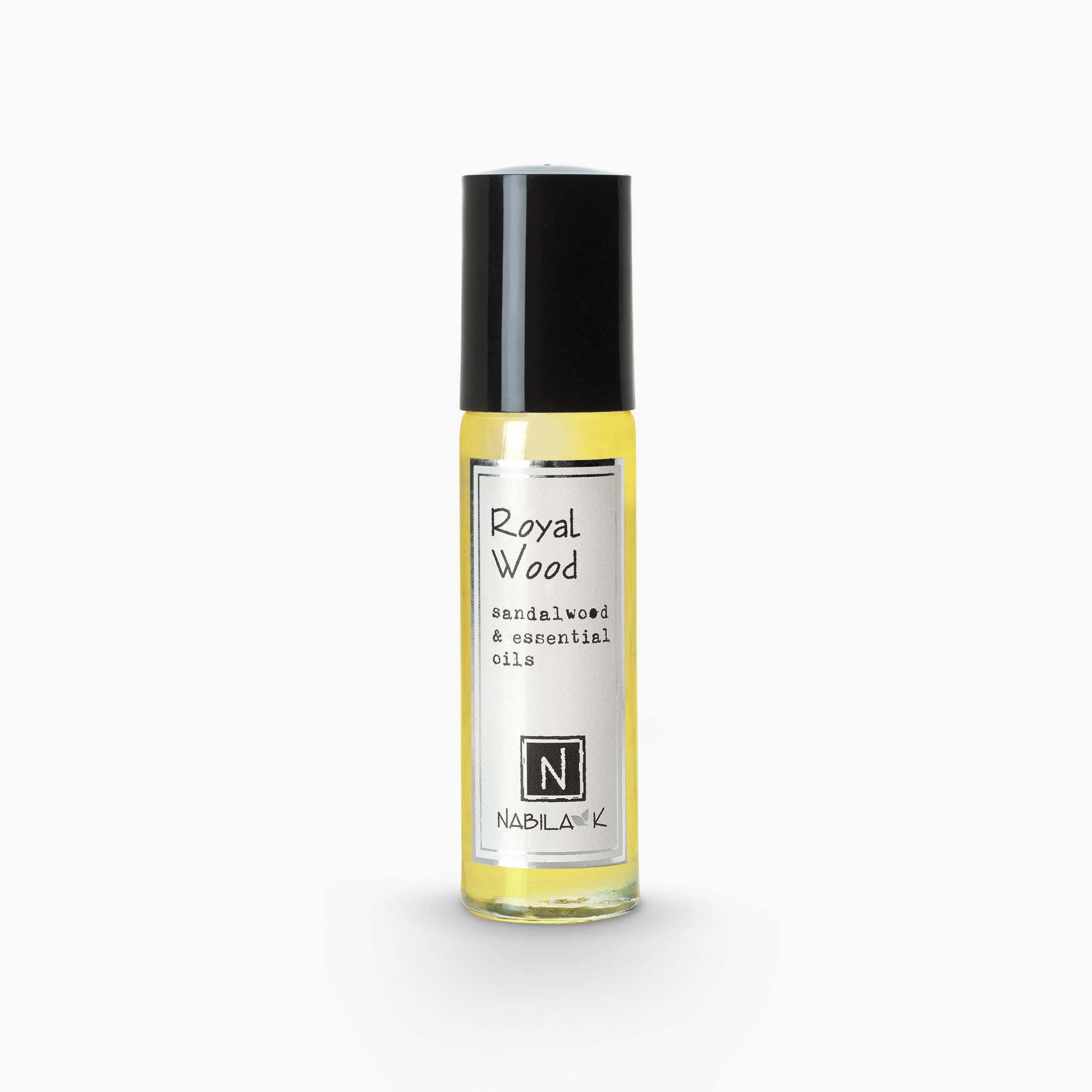 .33oz of Nabila K's Royal Wood Sandalwood and Essential Oils Roll on Perfume