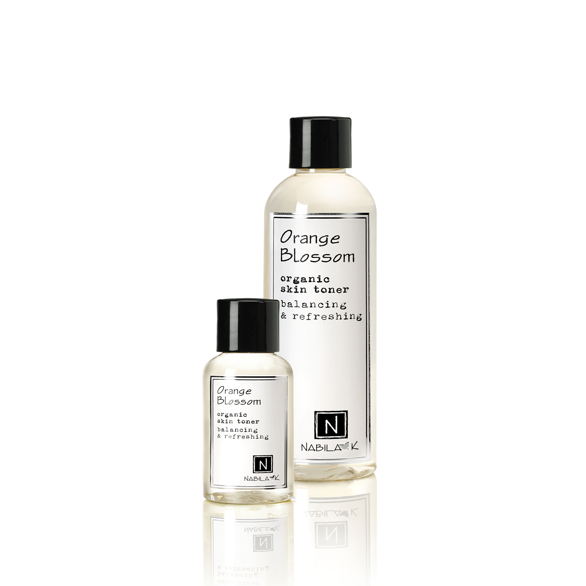 2.4oz and 9oz Orange Blossom Organic Skin Toner Balancing and Refreshing