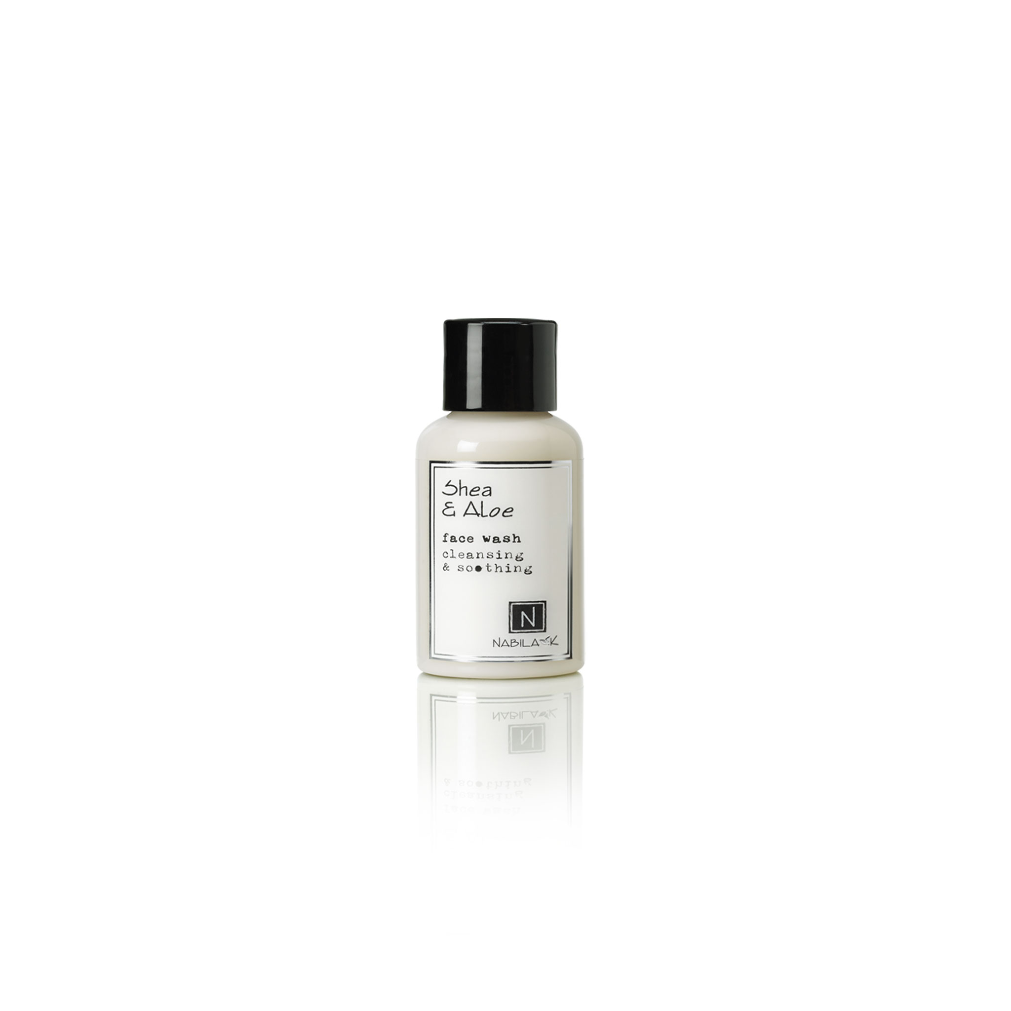 2.4oz bottle of Shea and Aloe Face Wash Cleansing and Soothing