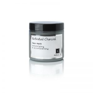 1 5oz jar of nabila k's activated charcoal face mask, detoxifying and illuminating