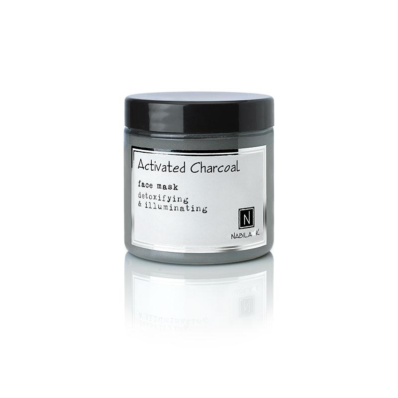 1 5oz jar of nabila k's activated charcoal face mask, detoxifying and illuminating
