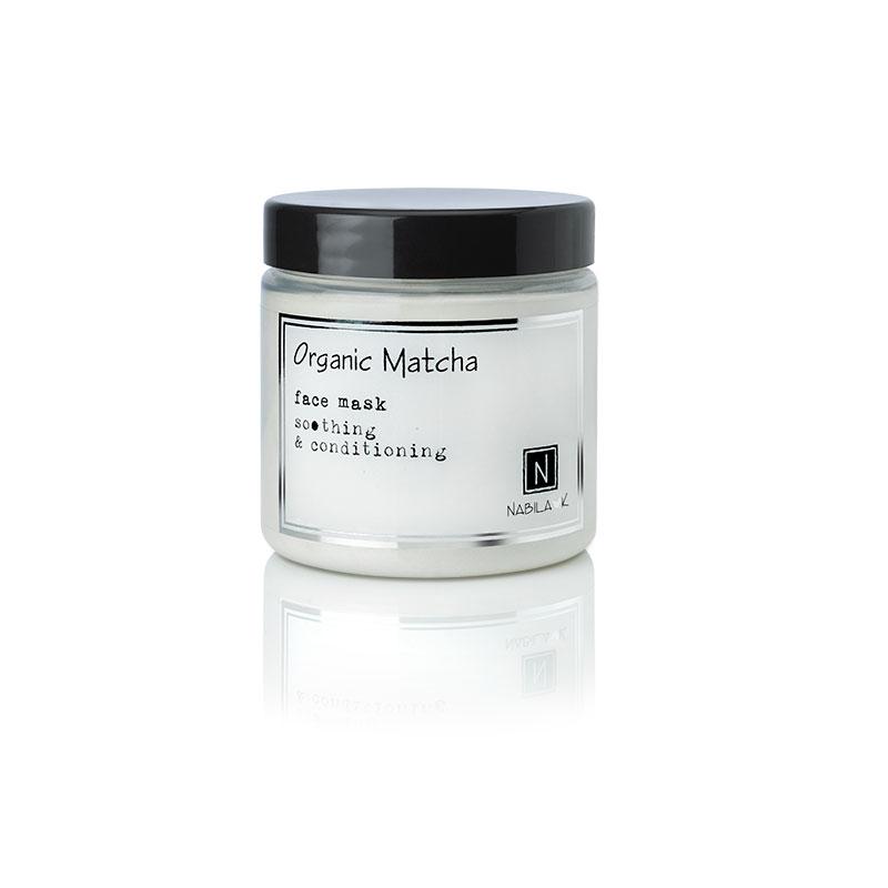 1 5oz Jar of Nabila K's Organic Matcha Face Mask soothing and conditioning