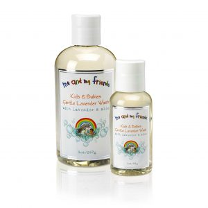 3oz and 9oz bottle of Nabila K's 'Me and My Friends' Kids and Babies Gentle Lavender Wash with Lavender and Aloe