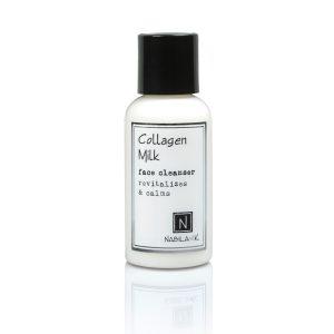 One 2.4oz White Bottle of Nabila K's Collagen Milk Face Cleanser