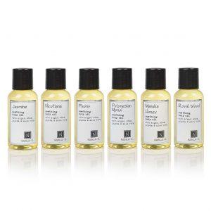 6 of Nabila K's Travel Sized Soothing Body Oil with Argan, Shea, Jojoba and Aloe Vera