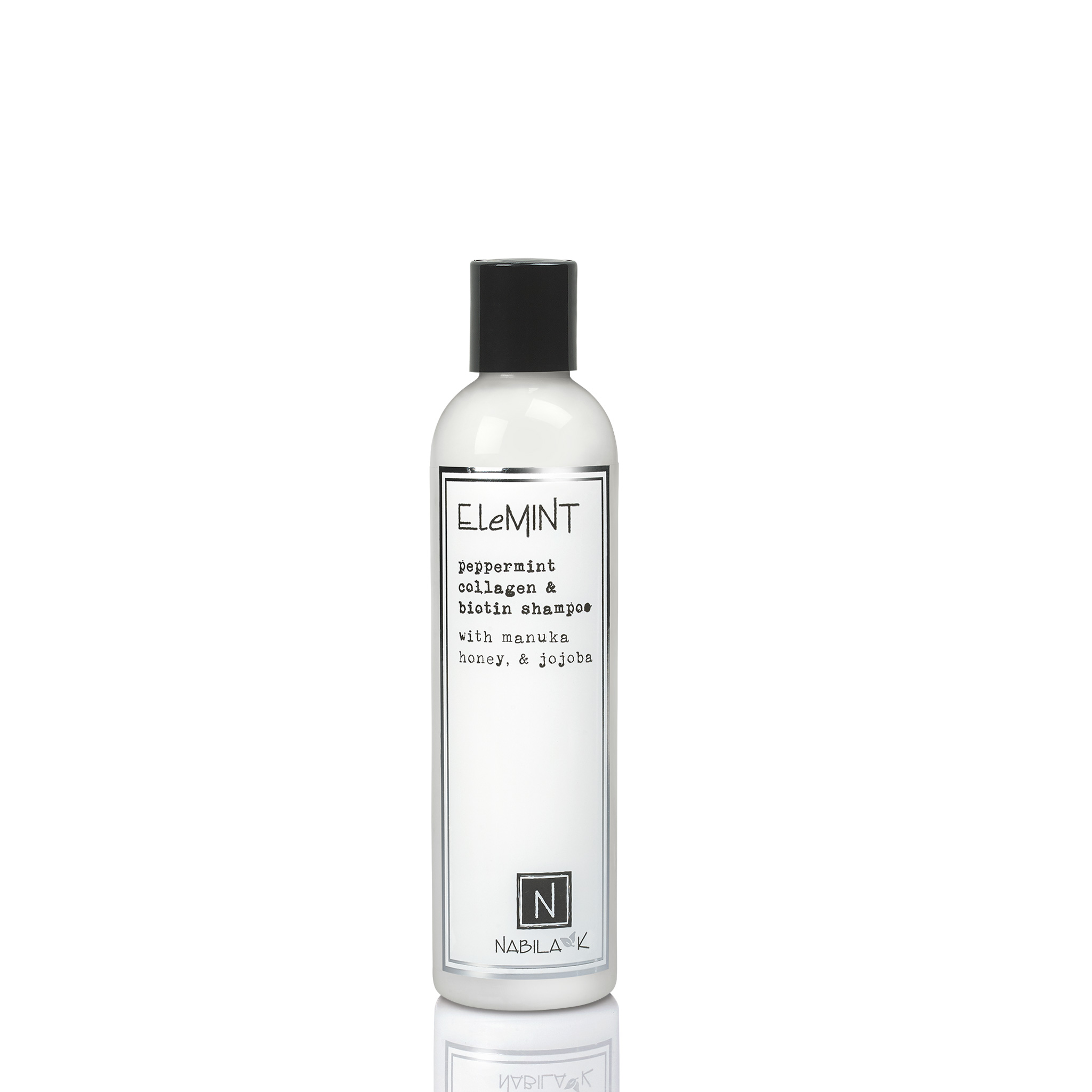 1 Large Sized Bottle of Elemint Peppermint Collagen and Biotin Shampoo with Manuka Honey and Jojoba