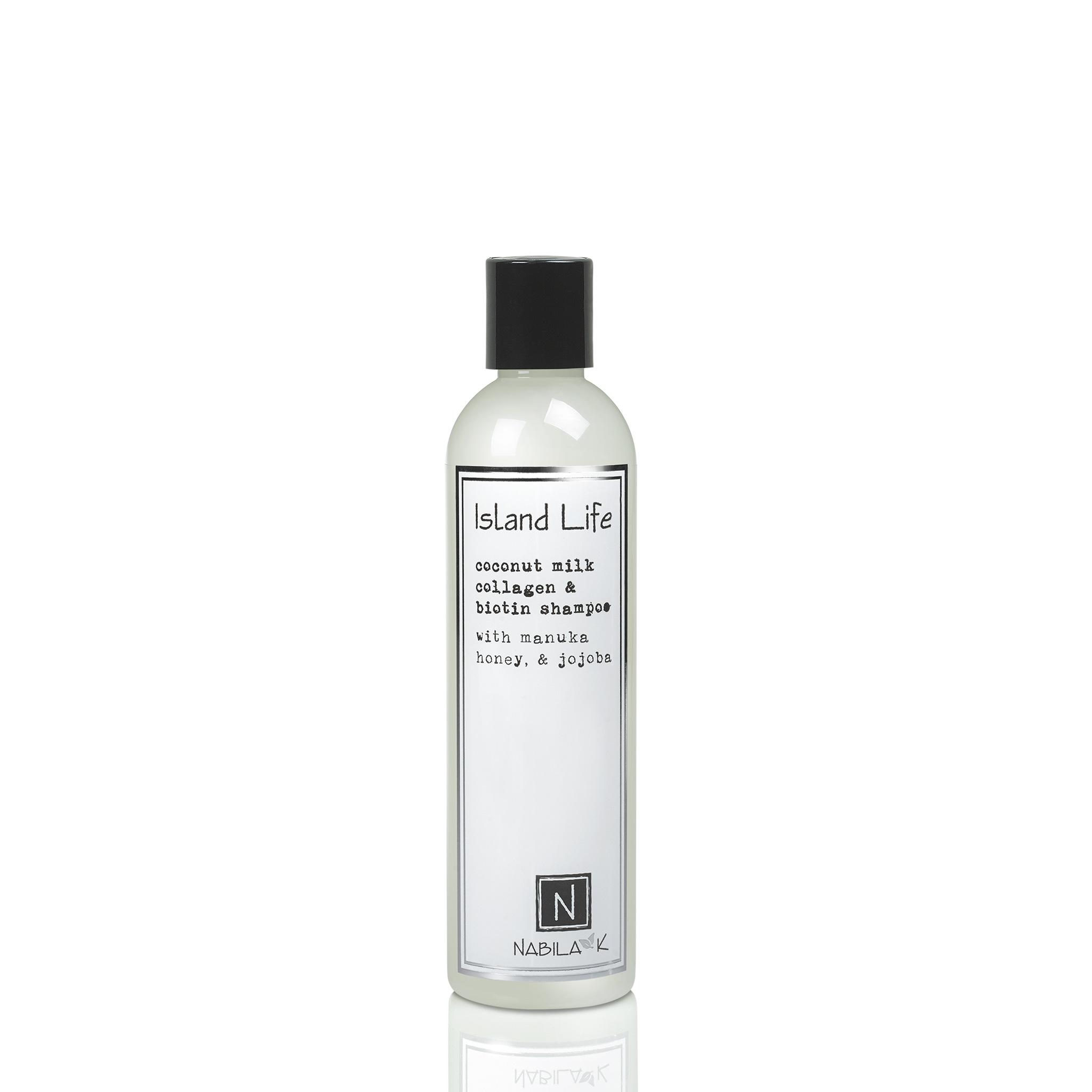 1 Large Sized Bottle of Nabila K's Coconut Milk Collagen and Biotin Shampoo with Manuka Honey and Jojoba