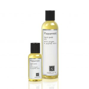 1 Large and 1 Travel Size Version of Peppermint Mani-Pedi Oil with Argan and Jojoba Oils