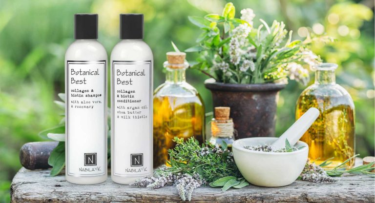 Nabila K's Botanical Best Collagen Next to Thistle, and argan oil