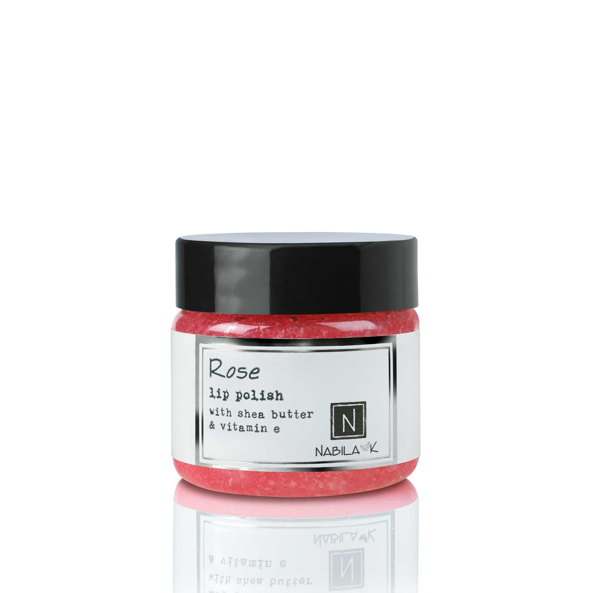 1 Jar of Nabila K's Rose Lip Polish with Shea Butter and Vitamin E